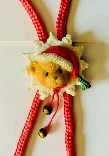 Very Rare Cherished Teddies Christmas Bolo Santa Hat ❤ Pink ❤ Bells ❤
