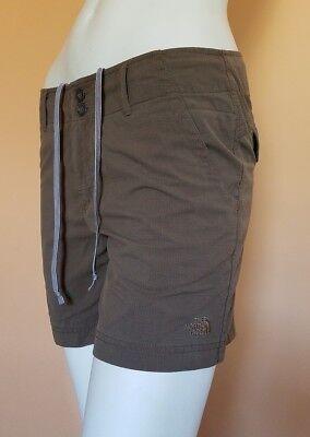 EUC Women's The North Face Hiking Fishing Casual Travel Nylon Shorts SZ 10 Brown