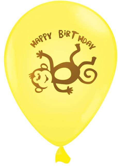 Monkey | Monkeying Around | Birthday Party Helium Quality Latex Balloons 4-30pk