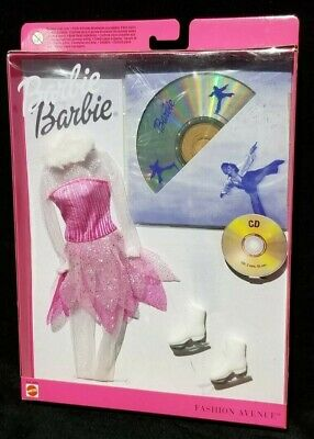 Barbie Fashion Avenue Figure Skating Outfit + CD ROM & Accessories Mattel 29069