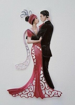 Die Cut Tattered Lace Art Deco Charisma Dancing Couple Card Toppers Card Making