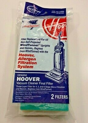 Genuine HOOVER REPLACEMENT FINAL FILTER For All Wind Tunnel Vacuums Free -