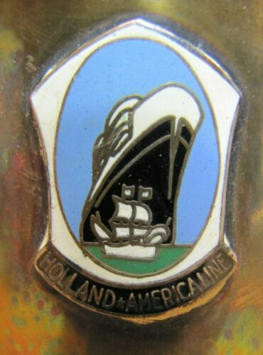 HOLLAND AMERICA LINE Old Silver Plate Trophy Cup Cruise Ship Souvenir