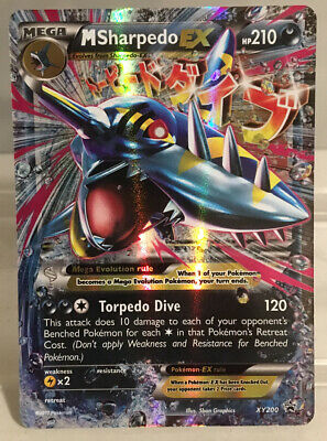 M Sharpedo EX Holo Black Star Promo XY #200 Pokémon Card Never Played Condition!