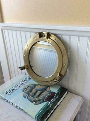 "Aluminum Porthole Mirror Rectangular 12 x 17/"""