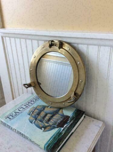 """12""""~ Antique Porthole ~Nautical Decor Porthole Mirror Ship FinishPorthole Cabin"""