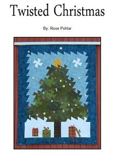 TWISTED-CHRISTMAS-Rose-Pohlar-Quilting-Sewing-Pattern-Americana-Christmas