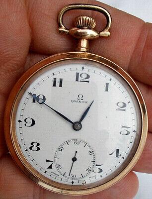 Vintage OMEGA ~ POCKET WATCH ~ 7 Jewel 2 Position ~ Gold Filled Case ~ 16 Size?