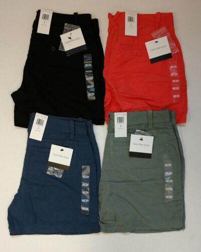 NEW Womens Calvin Klein Linen Blend Classic Shorts - Choose