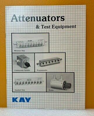 Kay Attenuators Test Equipment Catalog.
