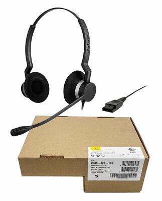 Jabra BIZ 2300 QD Duo Headset (2309-820-105) - Brand New, 1 Year Warranty