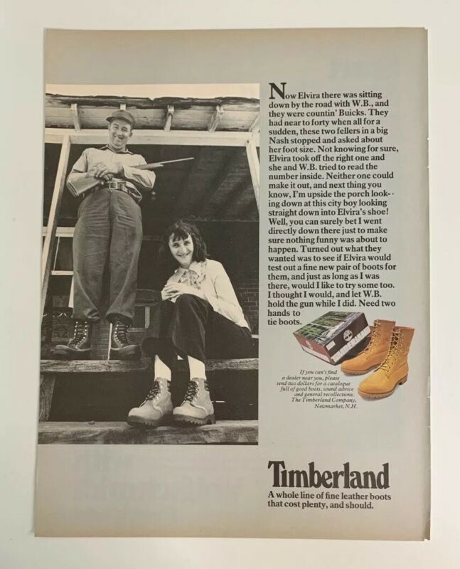 1976 Timberland Boots Print Ad A Whole Line Of Fine Leather Boots