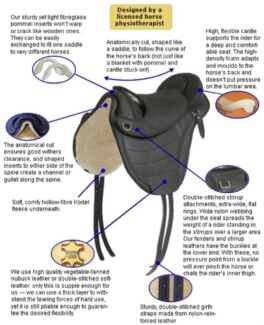Leather Treeless Saddle Designed by Horse Physio Thirroul Wollongong Area Preview