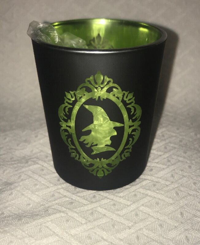 YANKEE CANDLE SILHOUETTES FLICKERING GREEN WITCH HOLDER