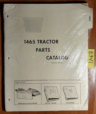 Wfe White Cockshutt Oliver 1465 Tractor Parts Catalog Manual 433 166 273
