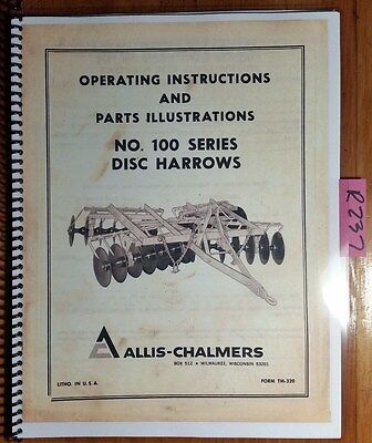 Disc Harrow Parts Owners Guide To Business And Industrial Equipment