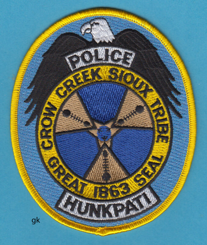 CROW CREEK SIOUX TRIBE SEAL POLICE SHOULDER PATCH