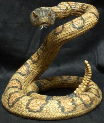 VENOM  Rattlesnake snake Statue Figurine DWK Western   H 10.25 inches