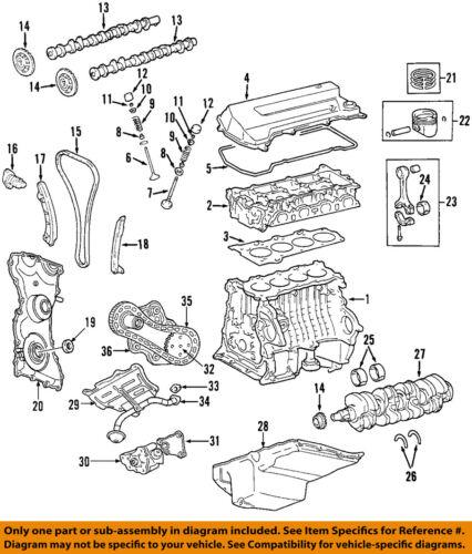 2002 mazda b2300 engine diagram mazda oem 01 05 b2300 engine timing chain l30112201 ebay  mazda oem 01 05 b2300 engine timing