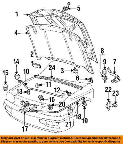 Vw Volkswagen Oem 93 99 Jetta Hood Insert 1h0823713