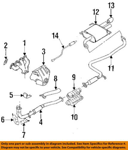 Nissan Oem 93 94 Altima 2 4l L4 Catalytic Converter 208001e425 Ebay Rh Ebay  Com 2000 Nissan Sentra Catalytic Converter 2002 Nissan Maxima Catalytic ...