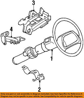 Buick GM OEM 97-99 LeSabre Steering-Column Assembly 26057307