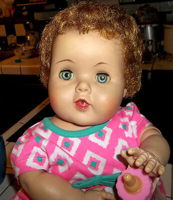 """1950's American Character Toodles Baby Doll with Rooted Hair 20"""""""