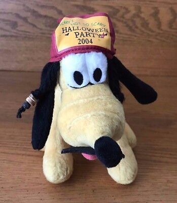 Disney 2004 Mickey's Not So Scary Halloween Party Pluto In Costume Jack Sparrow