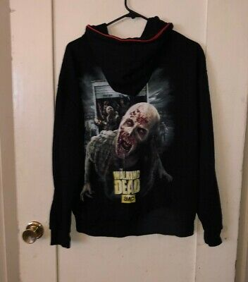 Universal Studios Halloween Horror Nights Zip Up Hoodie 2015 Walking Dead - Walking Dead Universal Studios Halloween