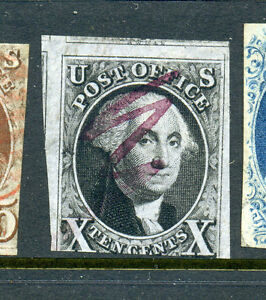 Scott #2 Washington Imperf Used Stamp (Stock #2-39)