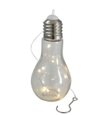 Hängelampe Glühbirne Glaslampe Led Lichterkette Pendelleuchte Batteriebetrieb ()