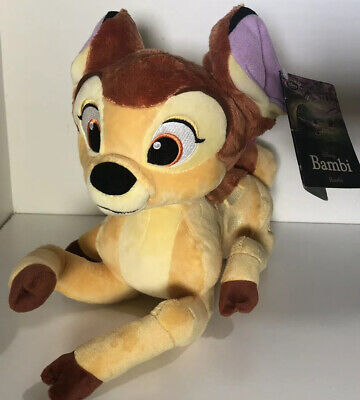"""Disney Store 13"""" Soft Plush BAMBI Deer w/ Butterfly on his Tail. New With Tag."""