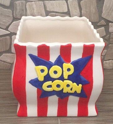 Ceramic Popcorn Bowl Reusable Tub Container Movies