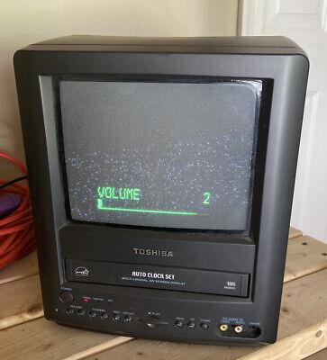 Toshiba VCR/TV Color Combo CRT TV, Model MV9KD1, Front Hookup ports Gamer
