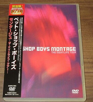 PROMO issue Pet Shop Boys JAPAN DVD official MORE LISTED Montage RE-ISSUE obi