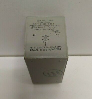 New Old Stock Freed 243v Frequency Transformer 13484 5950006477008 Ni761820-6251