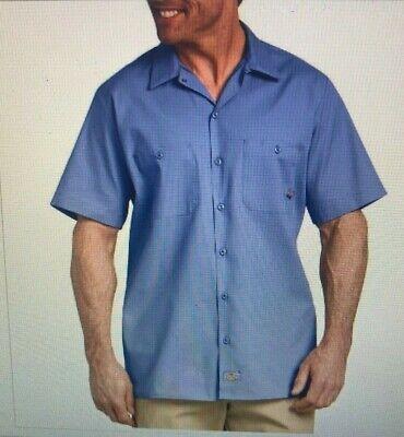 Pocket Work Shirt (NWT Dickies Mens Short Sleeve Industrial Pocket Work Shirt LS535LW Light Blue )