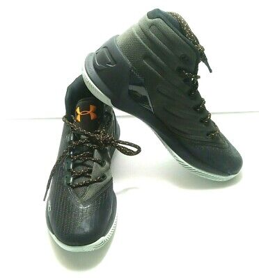 Under Armour Curry 3 Basketball Shoes Black Green Youth Boys Size 6 Y