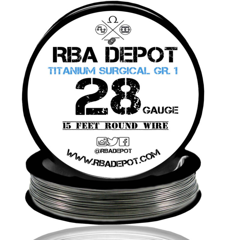 RBA Depot Titanium Surgical Gr.1 Competition Resistance Wire 28 Gauge AWG 15 ft