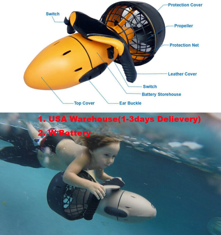 Diving Sea Scooter 300W Pro Electric Waterproof Dual Speed 6kmh lithium Battery