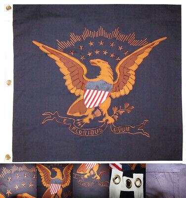 38x38 Embroidered USCT Eagle E Pluribus Unum Cotton Flag 38
