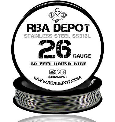 Rba Depot Stainless Steel Ss 316l Competition Resistance Wire 26 Gauge Awg 50ft
