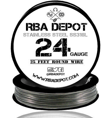 Rba Depot Stainless Steel Ss 316l Competition Resistance Wire 24 Gauge Awg 25ft