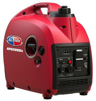 All Power 2000-watt Super Quiet Portable Gas Powered Inverter Generator Home Rv