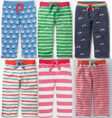 Rainbow Jersey-shorts (Mini Boden girls jersey baggies cropped shorts trousers striped rainbow summer)