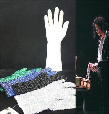 Retro MJ Michael Jackson Colorful Crystal Rhinestone Handmade Collection Glove - Mj Gloves