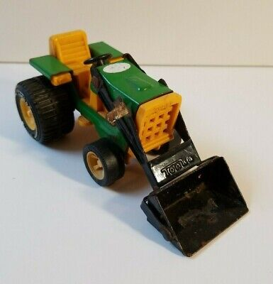 """Vintage Tonka Greeen and Yellow Mini Tractor Front End Loader Diecast 6"""" Metal for sale  Shipping to India"""