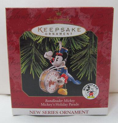 """1997 Hallmark Keepsake Ornament Mickey's Holiday Parade """"Bandleader Mickey"""" NEW!"""