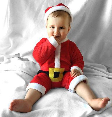 Baby Kinder Weihnachtsmann Nikolaus Strampler Kostüm Geschenk Geburt - Weihnachts Geschenk Kostüm