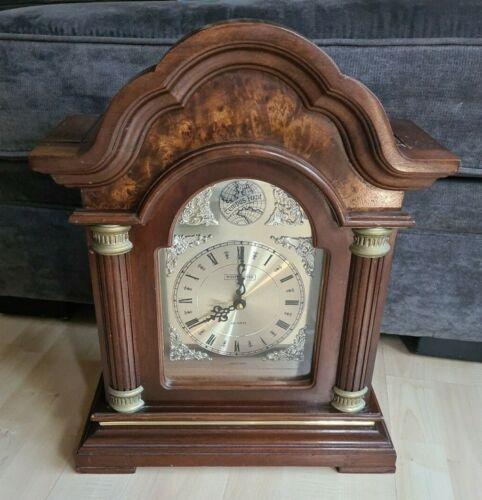 Westminster Tempus Fugit Chime Strike Wood Mantle Clock Quartz 18x14 3/4 -PARTS
